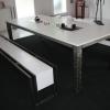 Table et bancs white