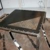 Table basse acier inox