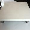 Table basse béton/inox