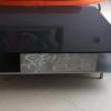 Table basse en inox et plateau quartz