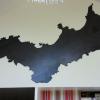 Carte d'une île découpée