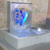 Superbe fontaine tout inox avec lame d'eau de 90 cm rétroéclairée par leds bleues…