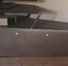 Meuble TV en coque de bateau inox-acier-bois
