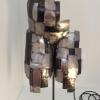 Le Samouraï, sculptures en morceaux de tôle acier noire (métal) et décapée par L'Atelier de Jérôme