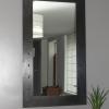 Miroir tôle acier noire rivetée