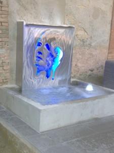 Fontaine tout inox avec visage