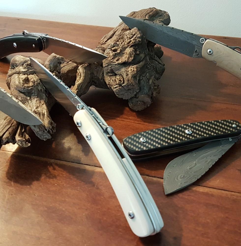 Couteaux réalisés par l'Atelier de Jérôme